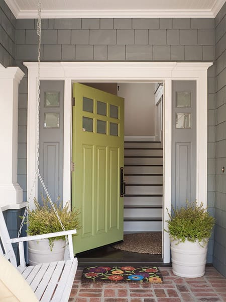 Fresh Ideas for Your Front Entryway | HomeandEventStyling.com