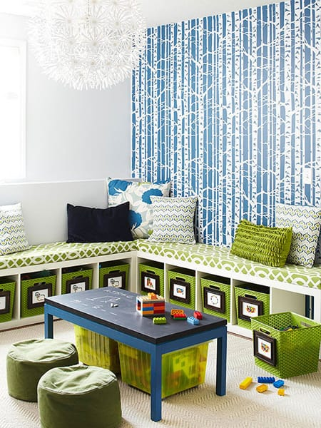 Creative Kids Room Wall Treatments | HomeandEventStyling.com