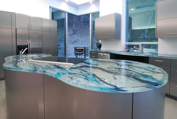 The Amazing Look of Glass Countertops | HomeandEventStyling.com