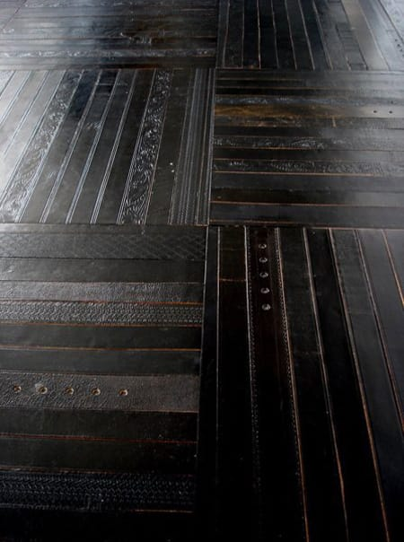 Decorating with the Unexpected: Leather Floors & Walls   HomeandEventStyling.com