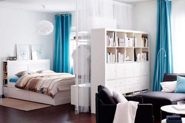 How to create privacy for a studio apartment bedroom - Studio indeling ...
