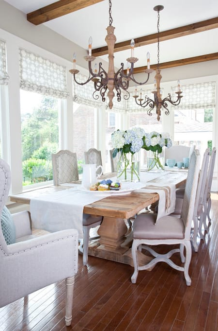 How to get the rustic chic dining room look for Dining room ideas rustic