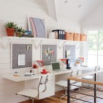 Stylish Ideas for a Shared Home Office | HomeandEventStyling.com