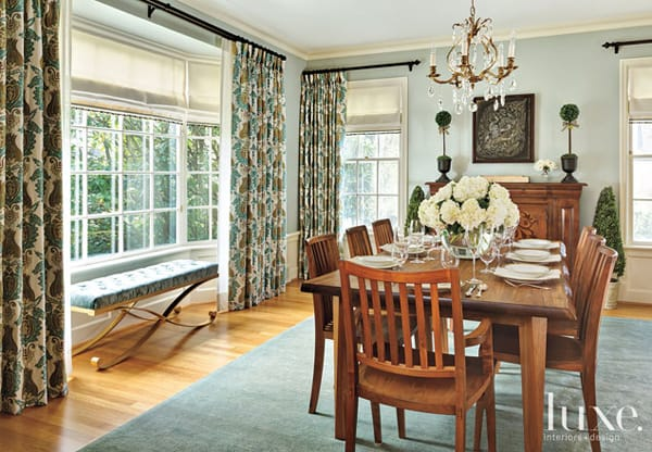 How to Use the Space Around the Dining Room Table   HomeandEventStyling.com