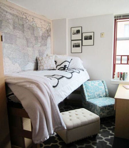 10 Inspiring Dorm Room Ideas  Megan Morris ~ 170222_Trendy Dorm Room Ideas