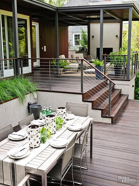 Creating Dimension with a Multi-Level Patio | HomeandEventStyling.com