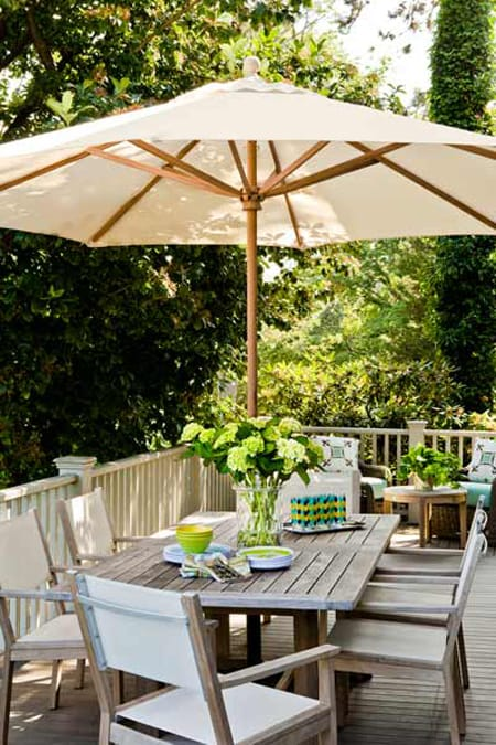 Catching Shade & Style with Outdoor Umbrellas