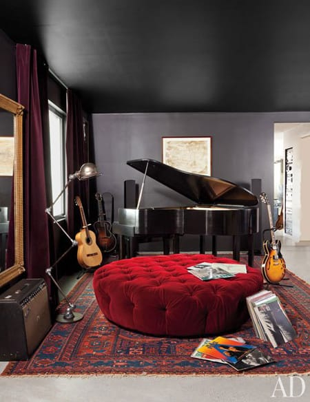 Home Tour: Adam Levine's Modern Rockstar Pad | HomeandEventStyling.com #bachelorpad