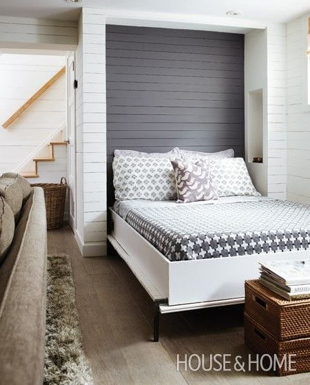 bed is perfect for a small space in the case of a basement apartment