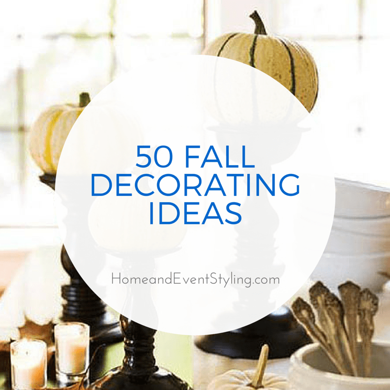 50 Fall Decorating Ideas | HomeandEventStyling.com #halloween #pumpkins