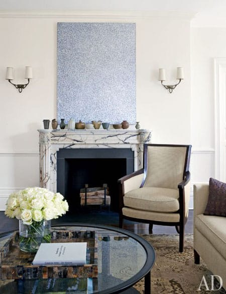 Home Tour: Michael J. Fox's New York City Apartment | HomeandEventStyling.com #fireplace