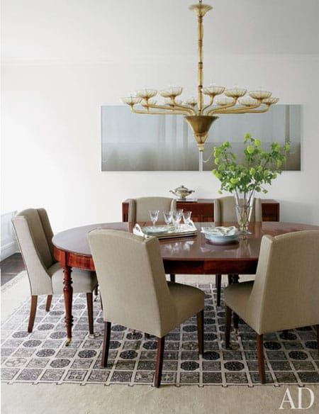 Home Tour: Michael J. Fox's New York City Apartment | HomeandEventStyling.com #diningroom