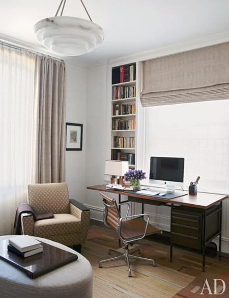 Home Tour: Michael J. Fox's New York City Apartment | HomeandEventStyling.com #office