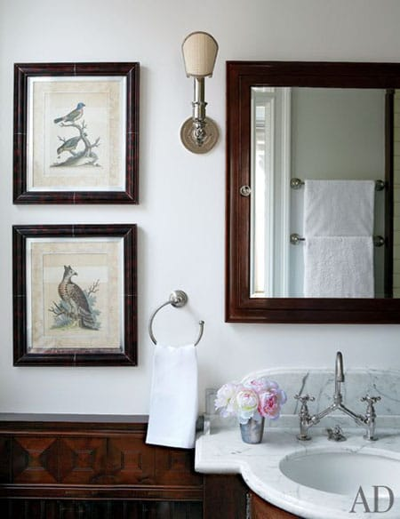 Home Tour: Michael J. Fox's New York City Apartment | HomeandEventStyling.com #bathroom