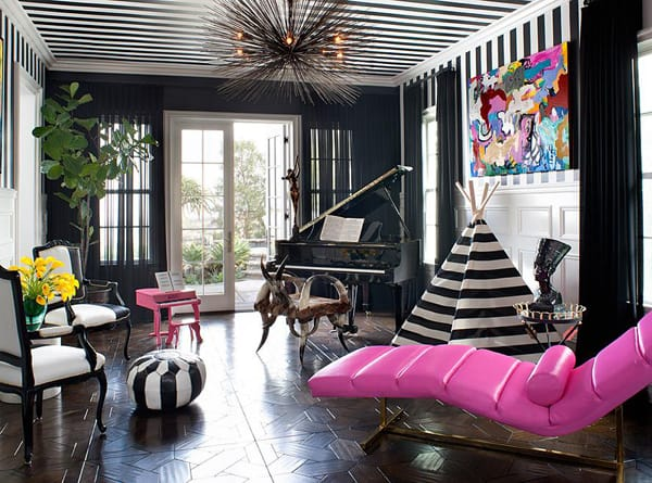 10 Chic Spaces with Black Walls | HomeandEventStyling.com