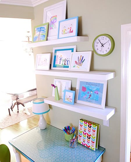 10 Ways to Display Your Kids Artwork in Style | HomeandEventStyling.com