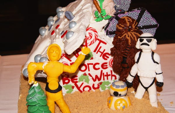 Learn how to make your own Star Wars gingerbread house for the holidays with this fun and easy holiday DIY project. Click to see the tutorial!