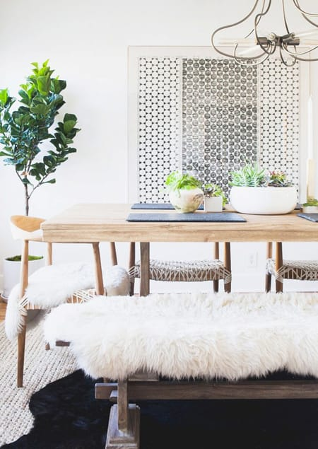 10 Ideas for Decorating with a Bench | HomeandEventStyling.com