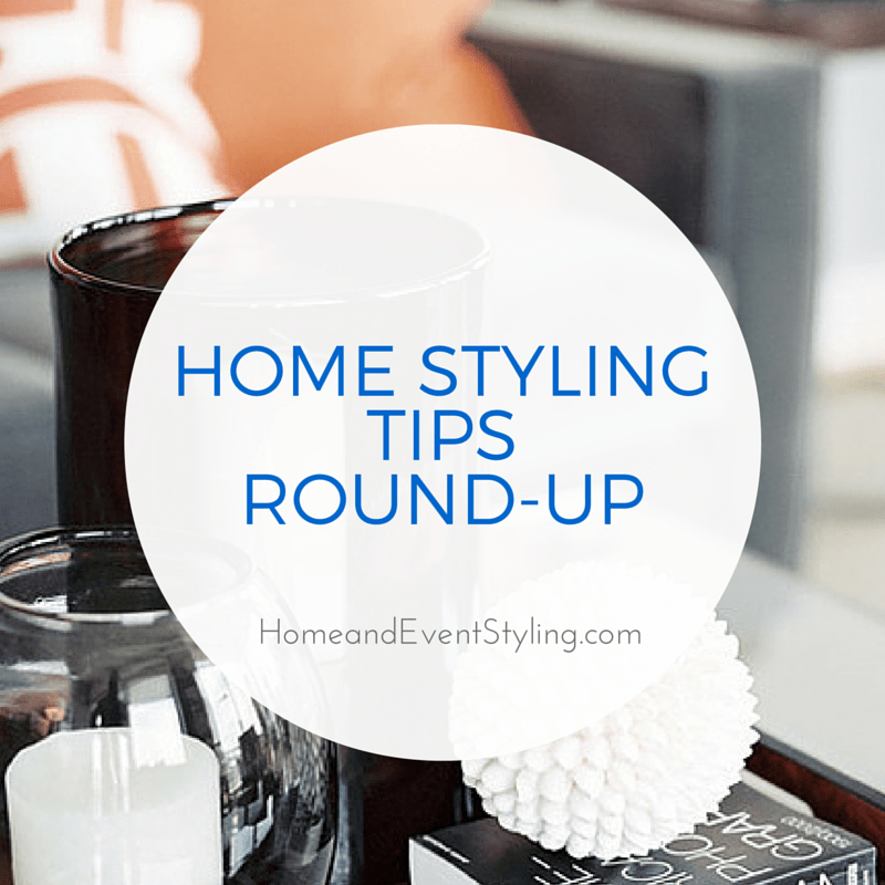 Getting stuck trying to your bookshelves, surfaces and vignettes? Check out this round-up of helpful home styling tips to get you on the right track. | HomeandEventStyling.com