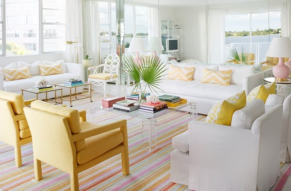 soft sunny yellow is a great choice to gently accent a space