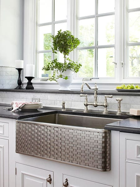 Farmhouse Sinks For Less : ... -weave -shows one more of the many possibilities of a farm sink