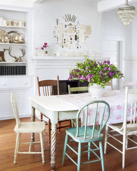 Serving Up Character with Mismatched Dining Room Chairs | HomeandEventStyling.com