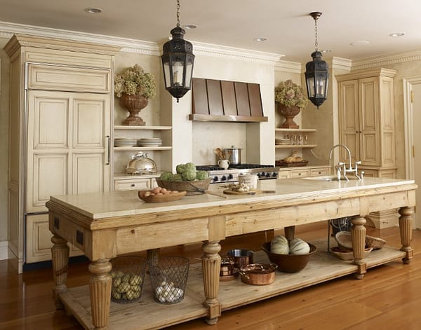 10 Charming Table-Style Kitchen Islands | HomeandEventStyling.com