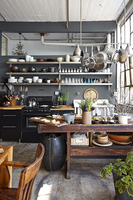 10 Cool and Enviable Industrial Kitchens | HomeandEventStyling.com