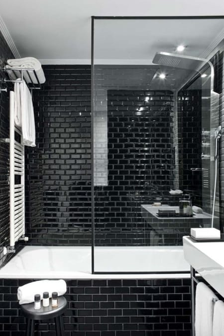 Going Bold with Black Subway Tile | HomeandEventStyling.com