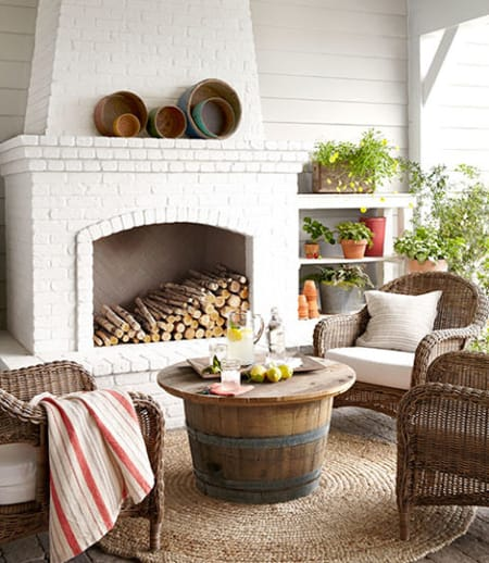 Warming Up Your Patio with an Outdoor Fireplace | HomeandEventStyling.com
