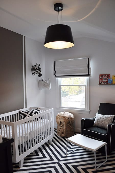 10 Adorable Nurseries Decorated with Black | HomeandEventStyling.com