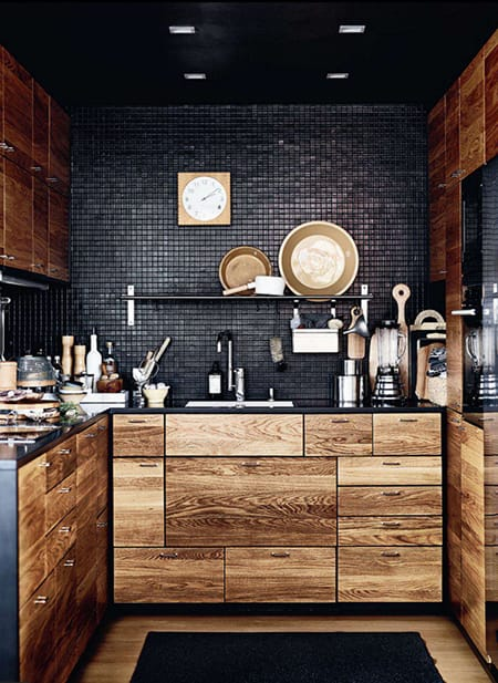 10 Dark & Dramatic Kitchens | HomeandEventStyling.com