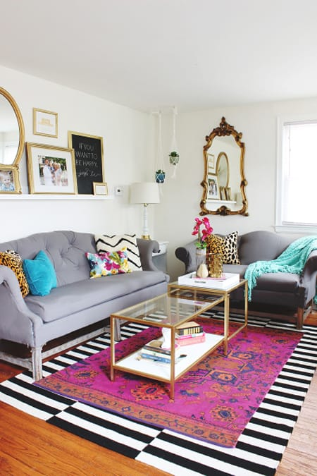 Creating a Stylish Look with Layered Rugs | HomeandEventStyling.com