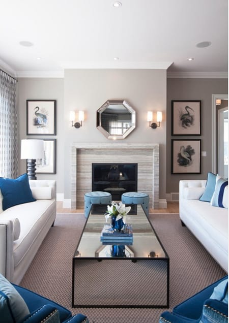 Inspiration for a Symmetrical Living Room | HomeandEventStyling.com
