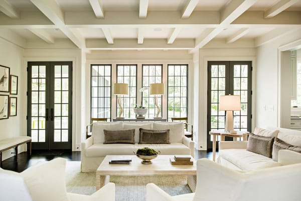 Decorating Around a Wall of Windows | HomeandEventStyling.com