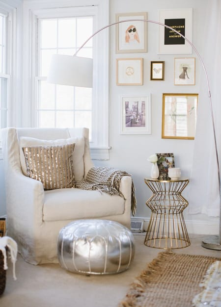 10 Chic Rooms That Mix Silver and Gold | HomeandEventStyling.com