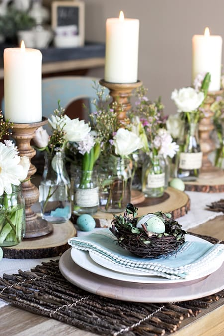 10 Ideas for a Lovely Easter Tablescape | HomeandEventStyling.com