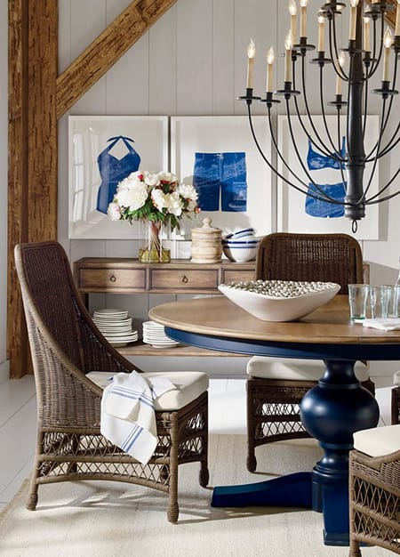 10 Refreshing and Chic Coastal Dining Rooms | HomeandEventStyling.com