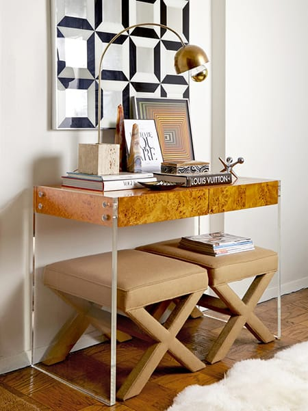 10 Clearly Stylish Lucite Console Tables | HomeandEventStyling.com