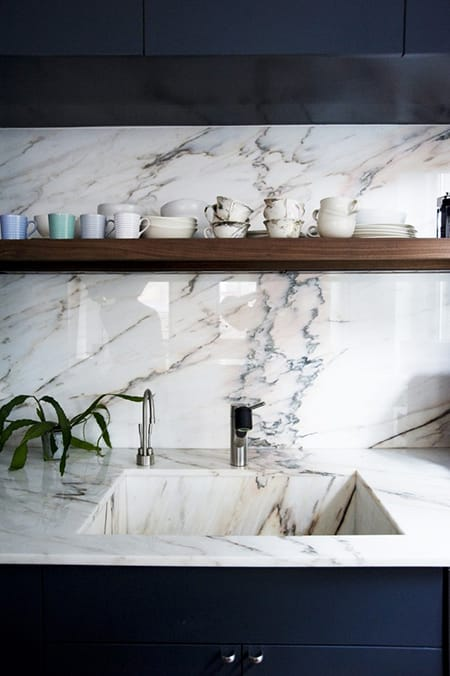 10 Marvelous Marble Backsplash Ideas | HomeandEventStyling.com