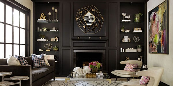 The Chic Look of Dark Bookcases | HomeandEventStyling.com