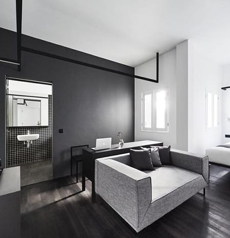 Hotel Tour: Singapore's Minimalist Black and White Hotel Mono   HomeandEventStyling.com