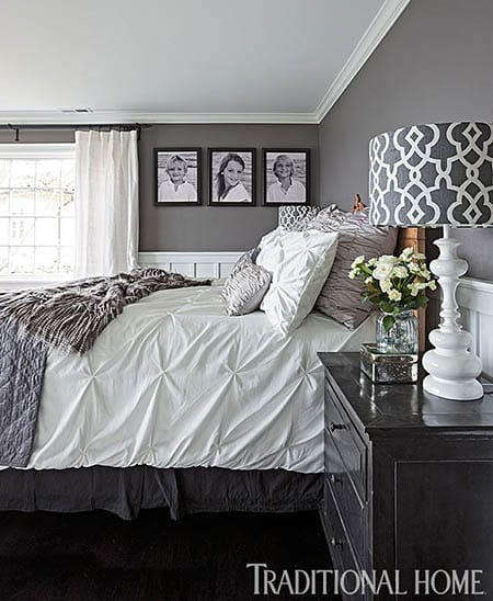 10 Chic White and Gray Bedrooms You'll Love | HomeandEventStyling.com