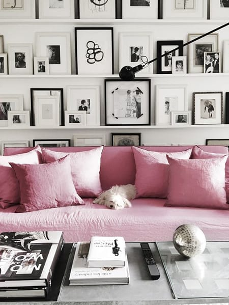 The Chic Look of a Black and White Gallery Wall | HomeandEventStyling.com