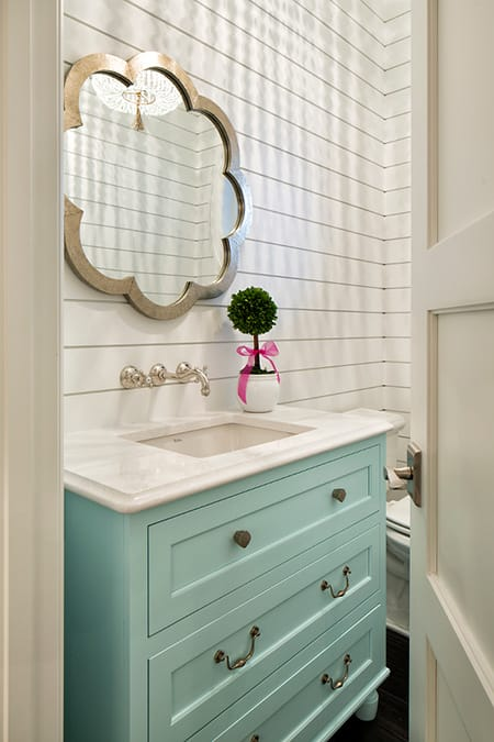 10 Charming Bathroom Vanities Made from Vintage Furniture | HomeandEventStyling.com