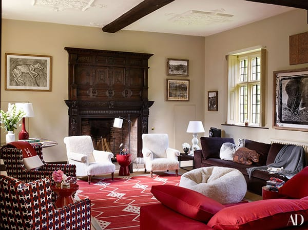 Home Tour: Claudia Schiffer's Picturesque Tudor Mansion | HomeandEventStyling.com