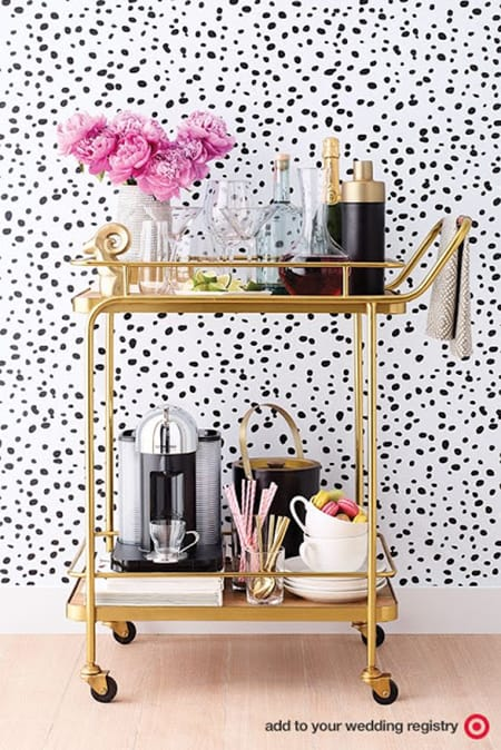 10 Ideas for Styling a Perfectly Chic Bar Cart | HomeandEventStyling.com