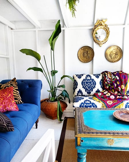 10 Creative & Colorful Bohemian Chic Rooms | HomeandEventStyling.com