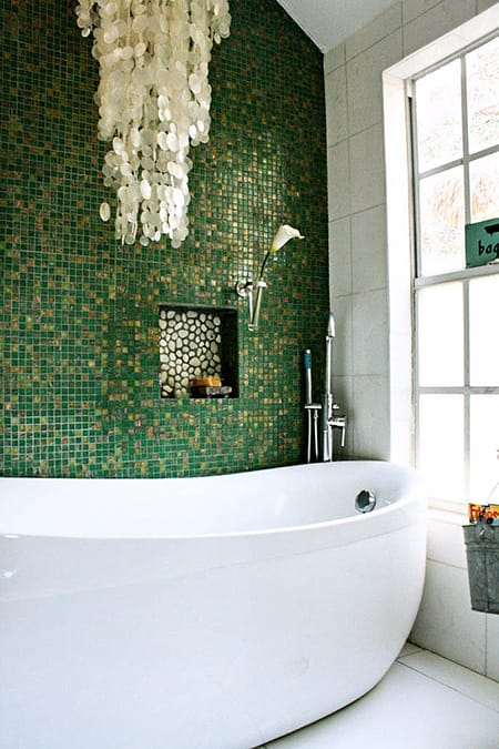 Going Gorgeous in Green in Your Bathroom | HomeandEventStyling.com