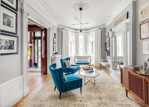 Home Tour: Emily Blunt and John Krasinski's Charming Brownstone | HomeandEventStyling.com